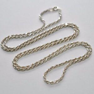 "Milor Vintage Sterling Rope Chain Necklace 31"""
